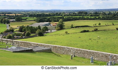 Beautiful summer landscape. View from the Rock of Cashel.