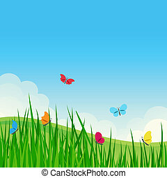 Beautiful summer meadow. - Beautiful summer meadow with...