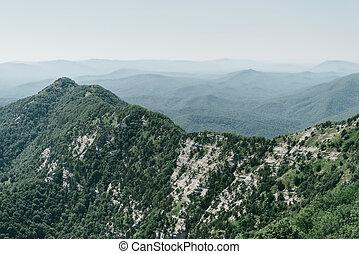 Beautiful summer mountain ridge landscape.