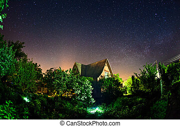 Beautiful summer night in Crimea