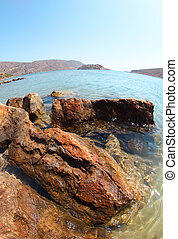 Beautiful summer sea landscape. Elounda, Crete