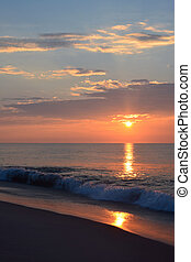 Beautiful Summer Seashore Sunrise