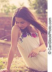 summer teen girl portrait