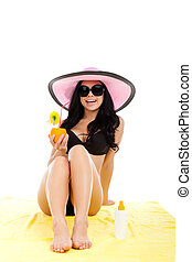 beautiful summer woman