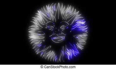 Beautiful sun face symbol video animation - Beautiful sun...