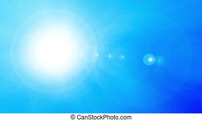 Beautiful sun over blue sky, HD 1080