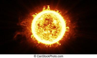 Beautiful Sun Surface Solar Flares