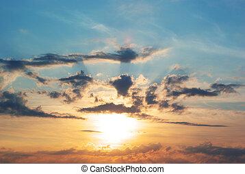 Beautiful sundown - Beautiful and colorful sundown