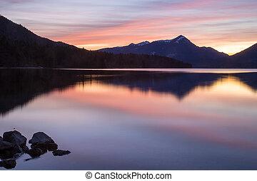 sundown on a lake