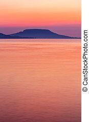 Beautiful sunrise in lake Balaton-Hungary