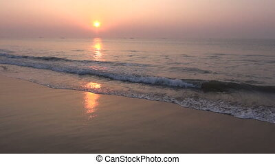 beautiful sunrise in South India