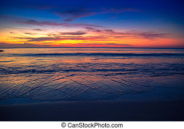 Beautiful sunrise in the sea