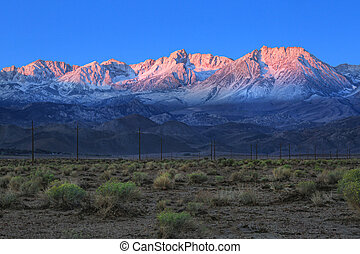 Sunrise in the Sierra Mountains Californa