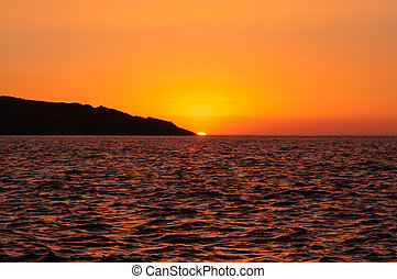 Beautiful sunrise on the coast
