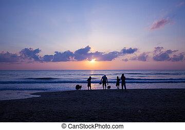 sunrise on the sea