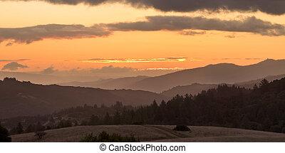Beautiful Sunrise over Coastal Central California - A...