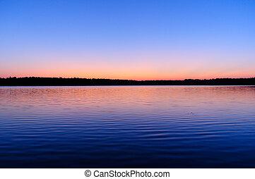 Beautiful Sunrise over Lake