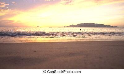 Beautiful sunrise over the ocean.