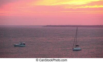 Beautiful Sunset Above The Sea