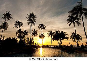 sunset at a beach