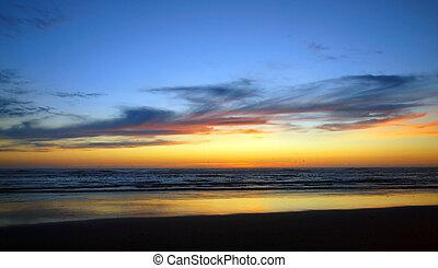 Beautiful Sunset at the Ocean