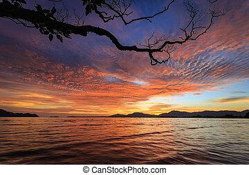 Beautiful Sunset beach in Phuket, Thailand