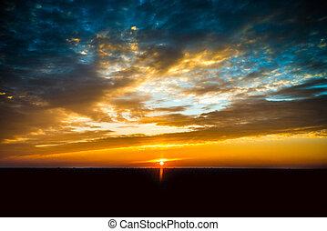 Beautiful sunset clouds