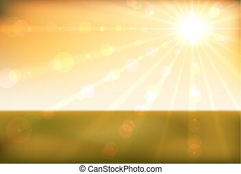 Beautiful sunset horizontal background.