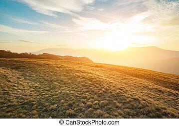 Beautiful sunset in Crimean