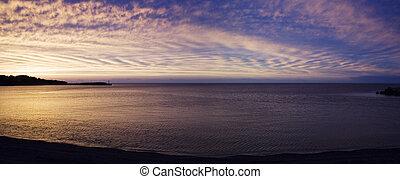 Beautiful sunset in Gaspésie
