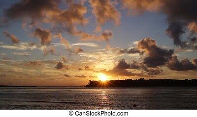 Beautiful sunset in northeast brazil - Beautiful sunset in...