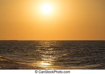 Beautiful sunset in Santorini