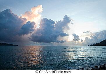 Beautiful sunset in Thailand
