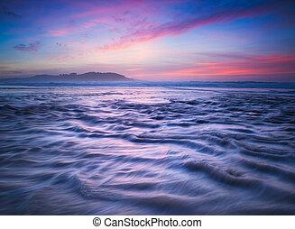 Beautiful sunset in the beach
