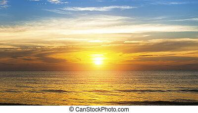 Beautiful sunset in the Sea beach.