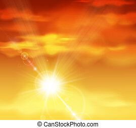 Beautiful sunset - Natural background with sunset. Eps 10