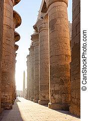 Beautiful sunset near Karnak temple in Egypt