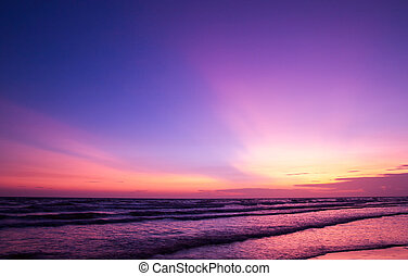 sunset - beautiful sunset on the beach