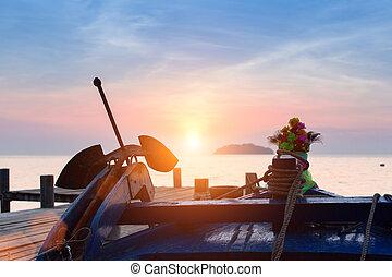 Beautiful sunset on the fishing