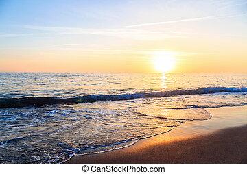 Beautiful sunset on the sea.