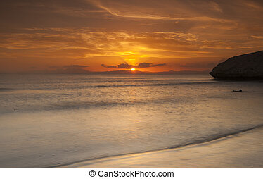 Beautiful sunset over an ocean