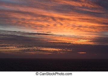 Beautiful Sunset over Ocean