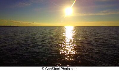 Beautiful Sunset Over Sea Waters