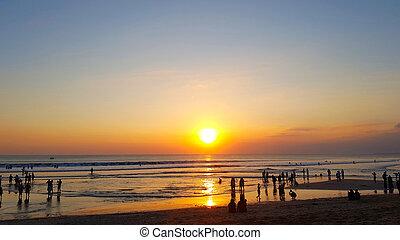 Beautiful sunset over the beach