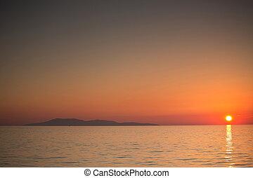 Beautiful sunset over the tropical sea