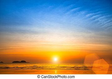 Beautiful sunset sea beach.