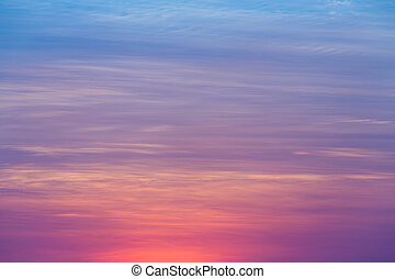 Beautiful sunset sky background