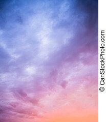 Beautiful sunset sky