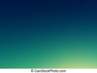 Beautiful sunset sky / Blue Colors Sunset sky wallpaper, vintage Toned Image