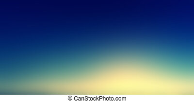 Beautiful sunset sky / Blue, Orange And Yellow Colors Sunset sky wallpaper